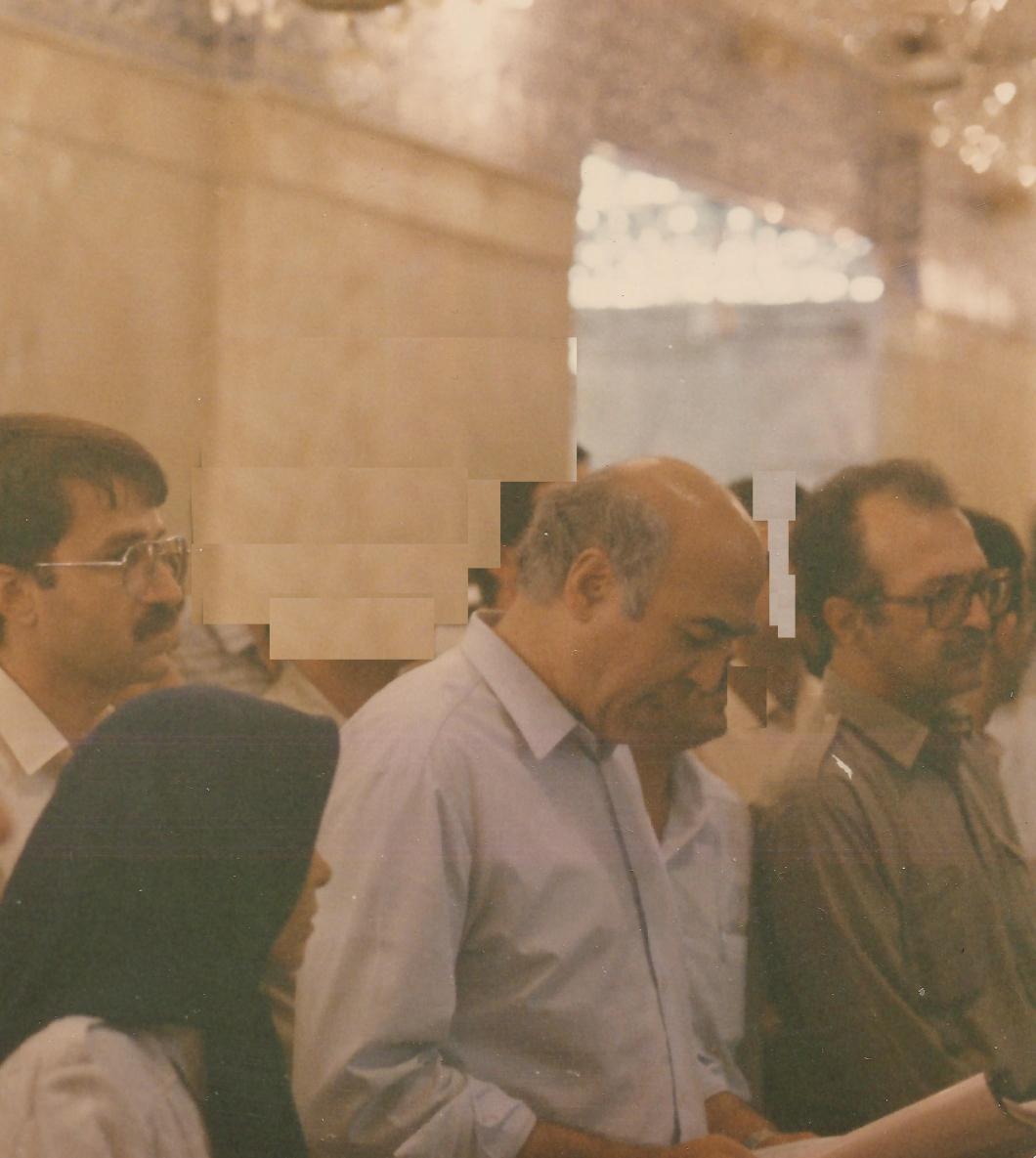 نجف اشرف 1369-از چپ به راست: بيژن ميرزايي، عباس داوري و محمد اقبال