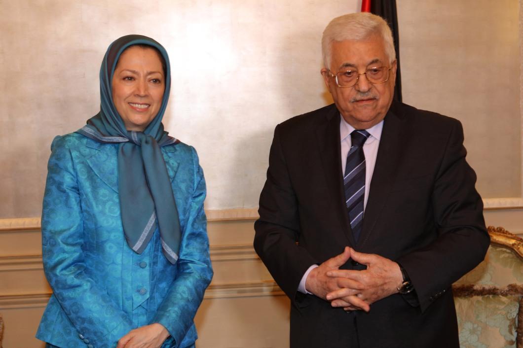 Rajavi-President Mahmoud Abbas-1