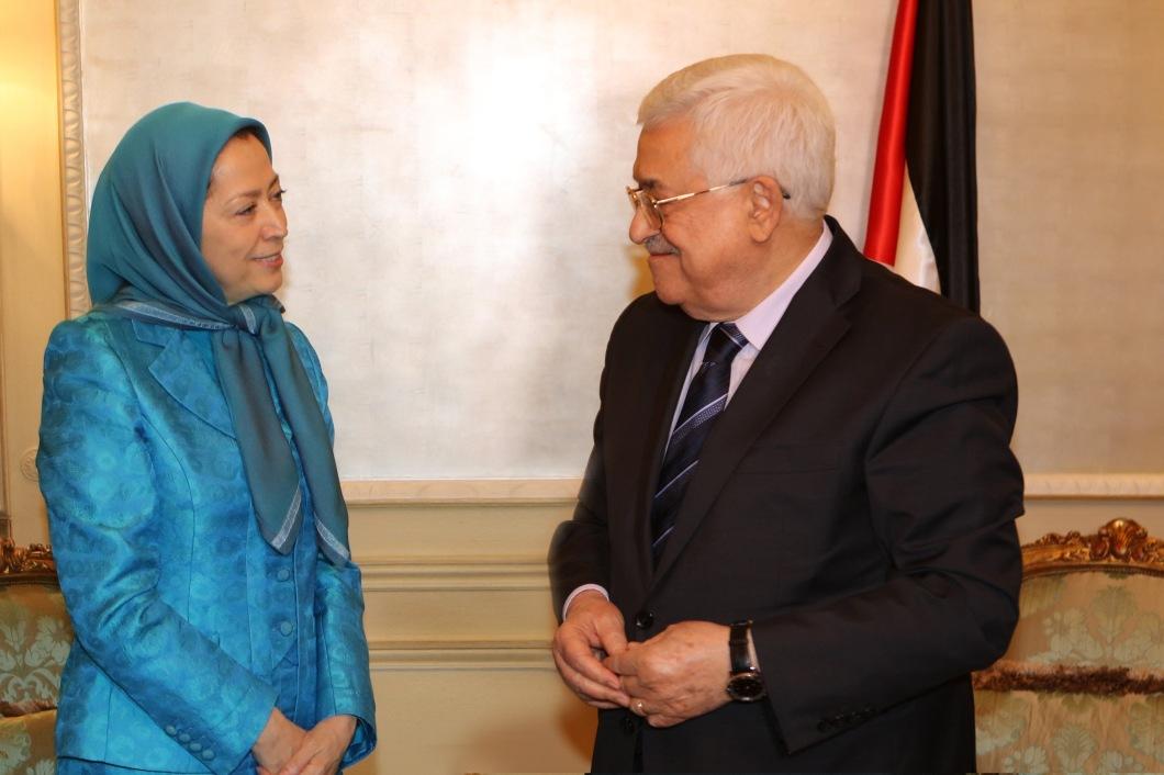 Rajavi-President Mahmoud Abbas-2